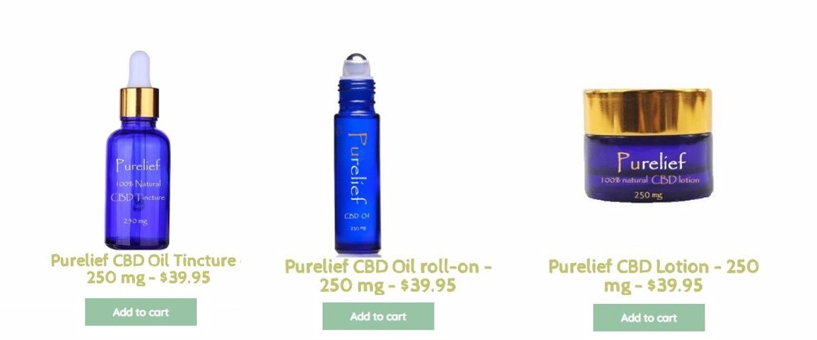 purelief cbd products indiana shop